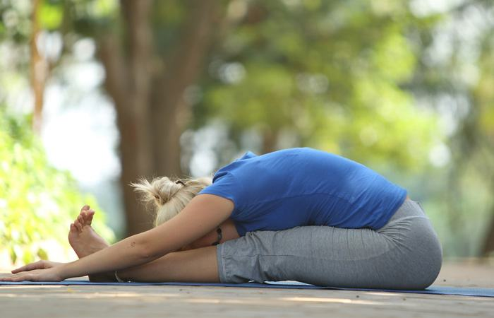 International Yoga Day- Paschimottanasana steps to Purify your Blood and Treat Stomach Worms